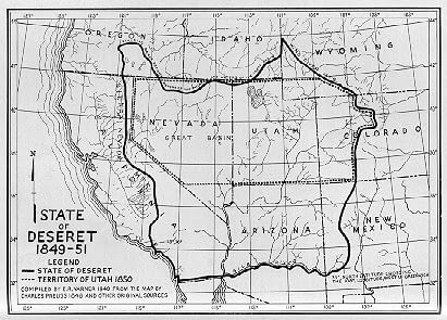 """Proposed """"State Of Deseret"""" Would Have Been Non-Mormon"""